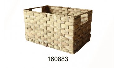 Storage Baskets,Woven Natural Water hyacinth Box with Handle